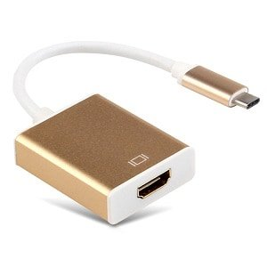 USB Type C 3.1 Male to HDMI Female HDTV 1080p Adapter Cable (Gold)