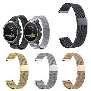 Garmin Vivoactive 3 Replacement Wristband Milanese Stainless Steel Watch Band Bracelet Kit