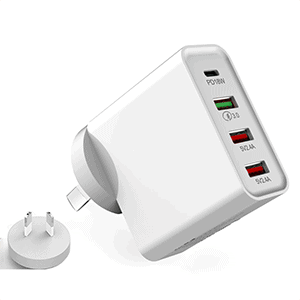 48W PD Fast Charger Qualcomm Multi USB + Type C Wall Plug Adapter
