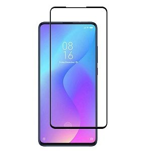 Xiaomi Mi 9T Full Coverage Tempered Glass LCD Screen Protector Film Guard (Black)