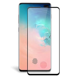 Samsung Galaxy S10 Plus Full Coverage Tempered Glass LCD Screen Protector Film Guard (Black)