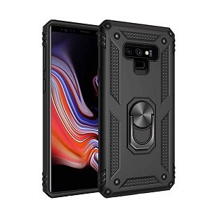 Samsung Galaxy Note 9 Shockproof Magnetic Car Mount Ring Case Cover (Black)