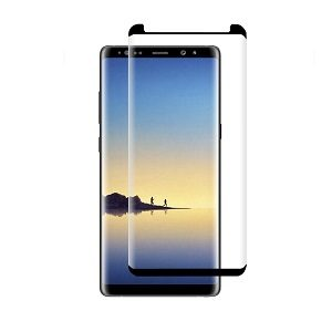 Samsung Galaxy Note 8 Full Coverage Tempered Glass LCD Screen Protector Film Guard (Black)