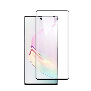 Samsung Galaxy Note 10 Full Coverage Tempered Glass LCD Screen Protector Film Guard (Black)