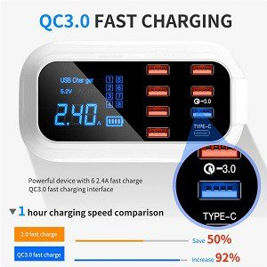 Multi Port USB Charger HUB 8 Port Fast Charger