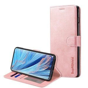 Oppo Find X2 Neo Wallet Case Flip Leather Card Slots Cover (Rose Gold)