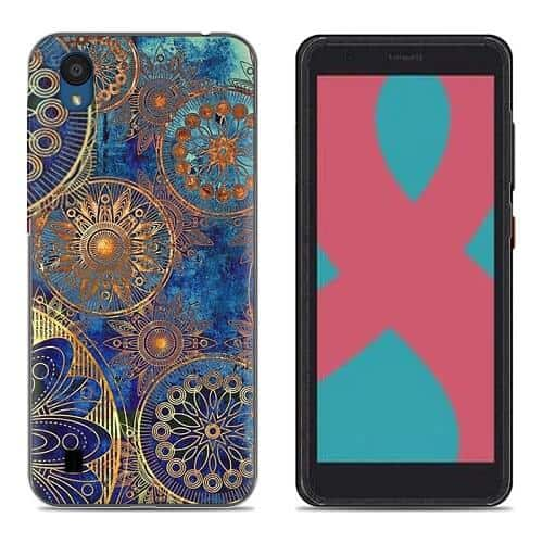Optus X Start 2 Fancy Soft Gel Flexible TPU Protective Stylish Case Cover (Style 2)