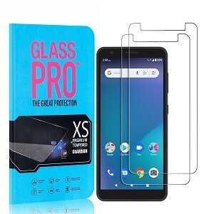 [2 Pack ] Telstra Essential Smart 3 Screen Protector Tempered Glass Screen Protector Guard