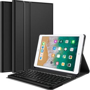 Apple iPad Air 1 Wireless Bluetooth Keyboard Case, Folio Leather Smart Stand Cover