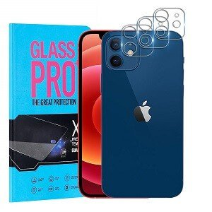 [3 Pack] Apple iPhone 12 Camera Lens Tempered Glass Screen Protector Film Guard