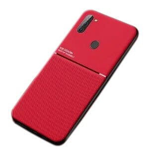 For Samsung Galaxy A11 Business Style Luxury Matte Soft Silicone Drop Resistant Case Cover (Red)