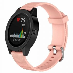 Replacement Silicone Wristband Sports Style Adjustable Wrist Bands For Garmin Forerunner 245 Music (Rose Gold)