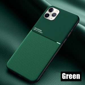 Apple iPhone 11 Pro Max Business Style Luxury Shockproof Case Heavy Duty Rugged Anti Knock Cover (Green)