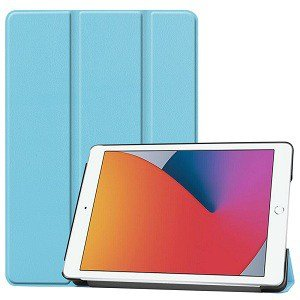 Apple iPad 8th Gen 10.2 inch 2020 Folio Smart Leather Magnetic Stand Case Cover (Sky Blue)