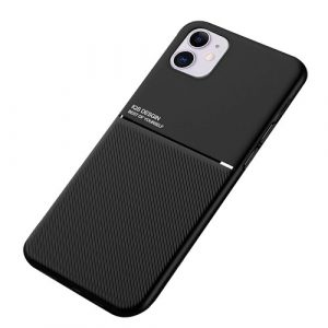 Apple iPhone 12 Mini Business Style Luxury Shockproof Case Heavy Duty Rugged Anti Knock Cover (Black)