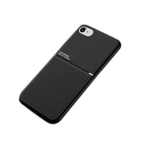 Apple iPhone SE 2020 Business Style Luxury Shockproof Case Heavy Duty Rugged Anti Knock Cover (Black)