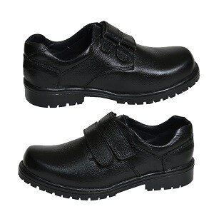 Original Leather Cow Hide Skin School Work Shoe With Lace For Boys Children Men