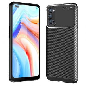 Oppo Reno4 5G Case Shockproof Absorption Anti Scratch Heavy Duty Durable Drop Protection Phone Armor Back Cover (Black)