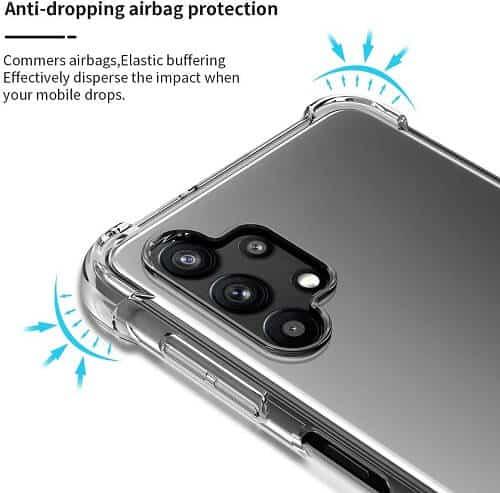 Samsung Galaxy A32 5G 4G Clear Case Shockproof Tough Gel Clear Transparent Air Cushion Cover