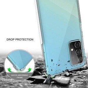 Samsung Galaxy A52 5G Clear Case Shockproof Tough Gel Clear Transparent Air Cushion Cover (Transparent) 1