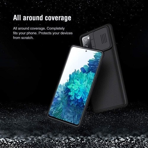 Nillkin Samsung Galaxy S20 FE Case, CamShield Series Slim Stylish Protective Case with Slide Camera Cover - Black
