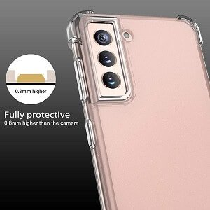 Samsung Galaxy S21 Clear Case Shockproof Tough Gel Clear Transparent Air Cushion Heavy Duty Cover (Transparent)