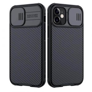 Nillkin Apple iPhone 12 5G Case, CamShield Series Slim Stylish Protective Case With Slide Camera Cover - Black