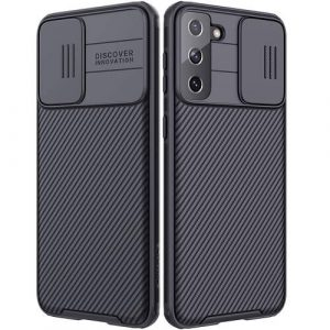 Nillkin Samsung Galaxy S21 5G Case, CamShield Series Slim Stylish Protective Case with Slide Camera Cover - Black