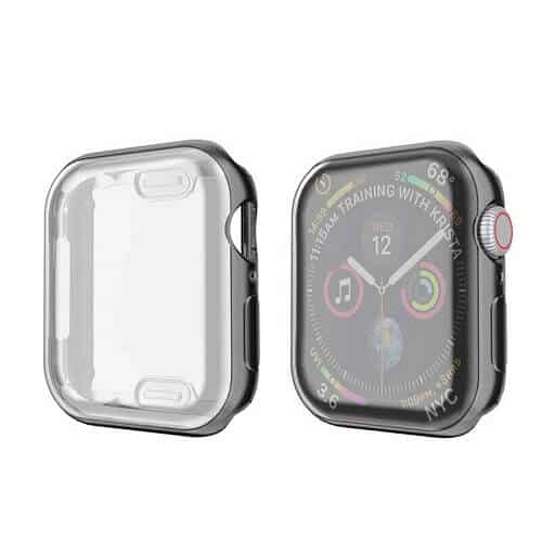 For Apple Watch iWatch Series SE 6 5 4 3 2 1 Case Soft Full Gel Case Cover 44mm 38mm 40mm 42mm (Black)