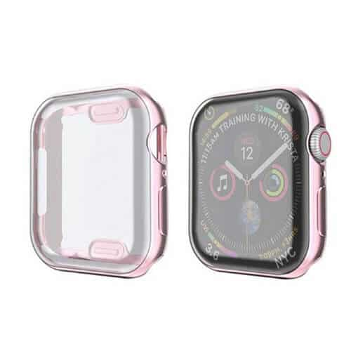 For Apple Watch iWatch Series SE 6 5 4 3 2 1 Case Soft Full Gel Case Cover 44mm 38mm 40mm 42mm (Rose Gold)