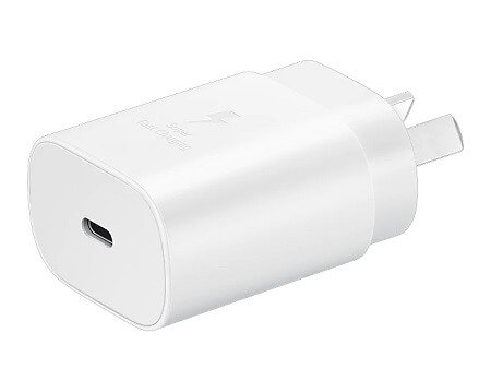 Genuine Official Samsung 25W EP-TA800NWEGAU Super Fast PD USB Type C Wall Charger Plug Adapter (White)