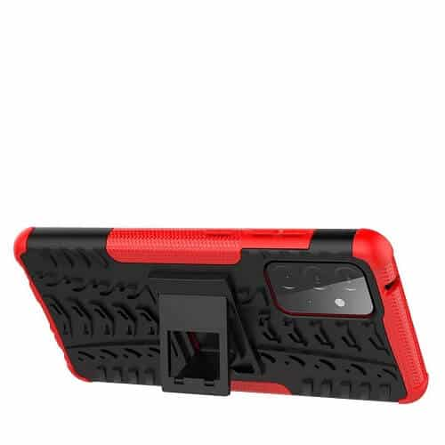 Samsung Galaxy A72 Heavy Duty Case Shockproof Rugged Protective Cover (Red)...