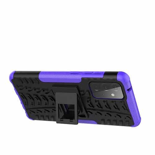 Samsung Galaxy A72 Heavy Duty Case Shockproof Rugged Protective Cover (Purple)....