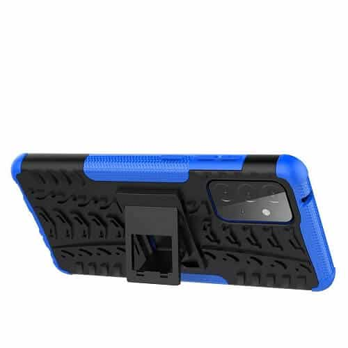 Samsung Galaxy A72 Heavy Duty Case Shockproof Rugged Protective Cover (Blue)..