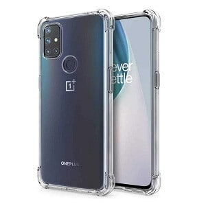 OnePlus Nord N10 5G Case Clear Heavy Duty Shockproof Tough Gel Clear Transparent Air Cushion Cover (Transparent)