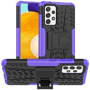 Samsung Galaxy A52 5G Heavy Duty Case Shockproof Rugged Protective Cover (Purple)