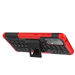 Samsung Galaxy A52 5G Heavy Duty Case Shockproof Rugged Protective Cover (Red)