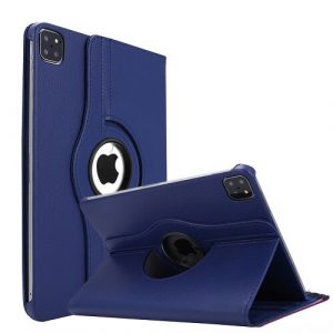 Navy Blue iPad Pro 11 2021 Smart Leather Case 3rd Generation 360 Degree Cover