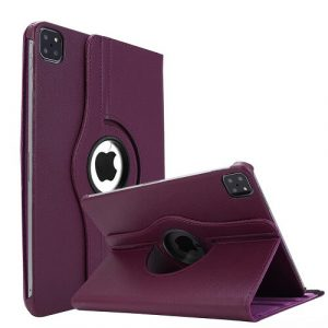Purple iPad Pro 11 2021 Smart Leather Case 3rd Generation 360 Degree Cover