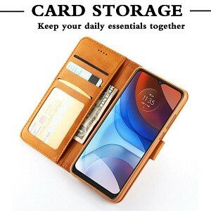 Motorola Moto E7 Power Wallet Case Flip Leather Magnetic Stand Shockproof Cover