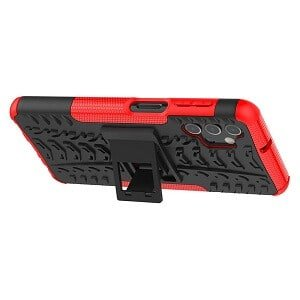 Samsung Galaxy A32 Heavy Duty Case Shockproof Rugged Protective Cover (Red)