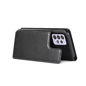 Samsung Galaxy A52 5G SupRShield Wallet Leather Card Holder Flip Protective Shockproof Magnetic Case Cover (Black)