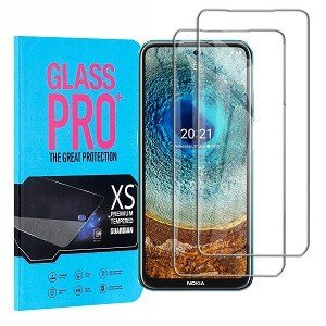 [2 Pack] Nokia X10 Full Coverage Tempered Glass Screen Protector Film Guard (Clear)