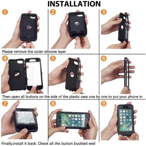 Apple iPhone 12 Pro Case Drop Resistant Defender Tradies Heavy Duty Rugged Shockproof Cover (Black)