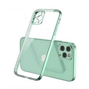 Apple iPhone 11 Pro Clear Case Luxury Plating Transparent Hard PC Back Cover (Light Green)