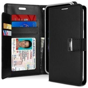 Goospery iPhone 11 Pro Rich Diary Black Wallet Case