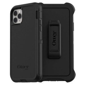 OtterBox Defender Series Case for Apple iPhone 11 Pro Max With Belt Clip Holster Shockproof Heavy Duty Cover (Black) 77-62581