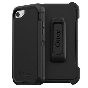 OtterBox Defender Series Case for Apple iPhone SE 2020 (2nd Gen) & iPhone 7 /8 With Belt Clip Holster Shockproof Heavy Duty Cover (Black)