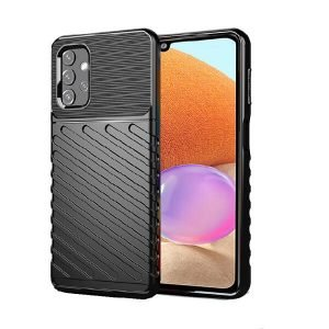 Samsung Galaxy A32 4G Case Shockproof Absorption Anti Scratch Heavy Duty Durable Drop Protection Phone Armor Back Cover (Black)