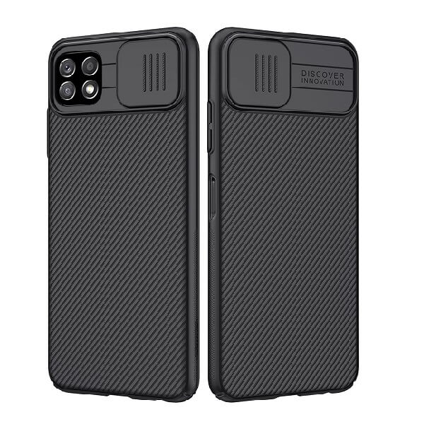 Nillkin Samsung Galaxy A22 5G Case, CamShield Series Slim Stylish Protective Case with Slide Camera Cover - Black